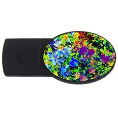 The Neon Garden 2gb Usb Flash Drive (oval) by rokinronda