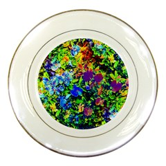 The Neon Garden Porcelain Display Plate by rokinronda