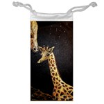 Baby Giraffe And Mom Under The Moon Jewelry Bag Front