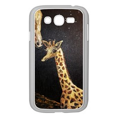 Baby Giraffe And Mom Under The Moon Samsung Galaxy Grand Duos I9082 Case (white) by rokinronda