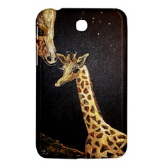 Baby Giraffe And Mom Under The Moon Samsung Galaxy Tab 3 (7 ) P3200 Hardshell Case  by rokinronda