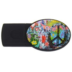Prague Graffiti 2gb Usb Flash Drive (oval) by StuffOrSomething