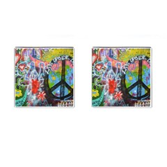 Prague Graffiti Cufflinks (square) by StuffOrSomething