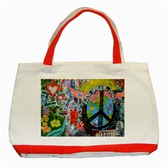 Prague Graffiti Classic Tote Bag (red) by StuffOrSomething