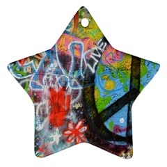 Prague Graffiti Star Ornament (two Sides) by StuffOrSomething