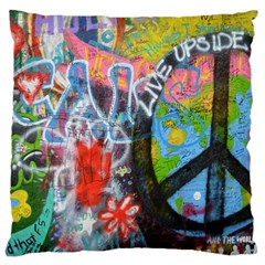 Prague Graffiti Large Cushion Case (single Sided)  by StuffOrSomething