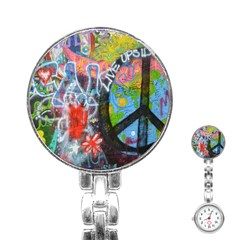 Prague Graffiti Stainless Steel Nurses Watch by StuffOrSomething