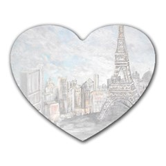 Eiffel Tower Paris Mouse Pad (heart) by rokinronda
