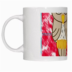 Two Owls White Coffee Mug by uniquedesignsbycassie
