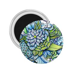 Peaceful Flower Garden 2 25  Button Magnet by Zandiepants