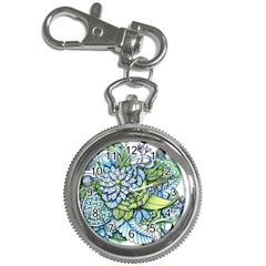 Peaceful Flower Garden Key Chain Watch by Zandiepants