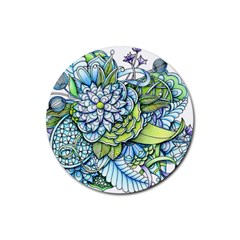 Peaceful Flower Garden Drink Coaster (round) by Zandiepants