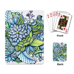 Peaceful Flower Garden Playing Cards Single Design by Zandiepants
