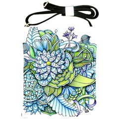 Peaceful Flower Garden Shoulder Sling Bag