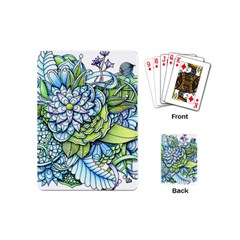 Peaceful Flower Garden Playing Cards (mini) by Zandiepants