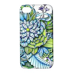Peaceful Flower Garden Apple Iphone 4/4s Hardshell Case With Stand by Zandiepants