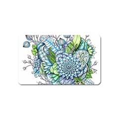 Peaceful Flower Garden 2 Magnet (name Card) by Zandiepants
