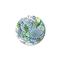 Peaceful Flower Garden 2 Golf Ball Marker 4 Pack by Zandiepants