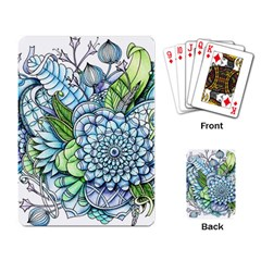 Peaceful Flower Garden 2 Playing Cards Single Design by Zandiepants
