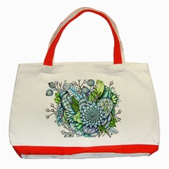 Peaceful Flower Garden 2 Classic Tote Bag (red)