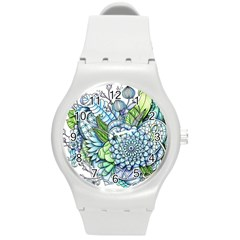 Peaceful Flower Garden 2 Plastic Sport Watch (medium) by Zandiepants