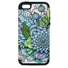 Peaceful Flower Garden 2 Apple Iphone 5 Hardshell Case (pc+silicone) by Zandiepants