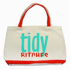 Tidy Bitcheslarge1 Fw Classic Tote Bag (red) by tidybitches