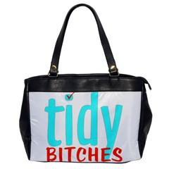 Tidy Bitcheslarge1 Fw Oversize Office Handbag (one Side) by tidybitches
