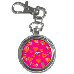 Hot Pink And Orange Hearts By Khoncepts Com Key Chain Watch by Khoncepts