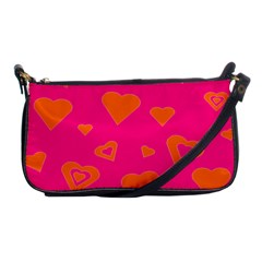 Hot Pink And Orange Hearts By Khoncepts Com Evening Bag by Khoncepts