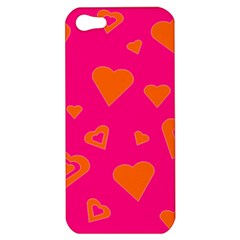 Hot Pink And Orange Hearts By Khoncepts Com Apple Iphone 5 Hardshell Case by Khoncepts