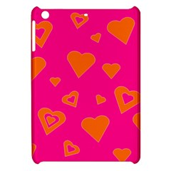 Hot Pink And Orange Hearts By Khoncepts Com Apple Ipad Mini Hardshell Case by Khoncepts