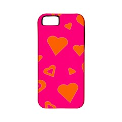 Hot Pink And Orange Hearts By Khoncepts Com Apple Iphone 5 Classic Hardshell Case (pc+silicone) by Khoncepts