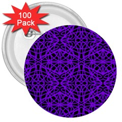 Black And Purple String Art 3  Button (100 Pack)
