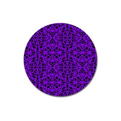 Black And Purple String Art Magnet 3  (round) by Khoncepts