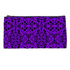 Black And Purple String Art Pencil Case by Khoncepts