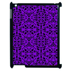 Black And Purple String Art Apple Ipad 2 Case (black) by Khoncepts