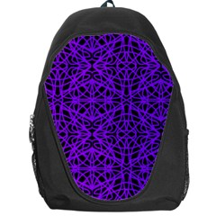 Black And Purple String Art Backpack Bag
