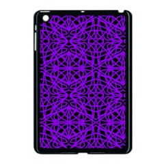 Black And Purple String Art Apple Ipad Mini Case (black) by Khoncepts