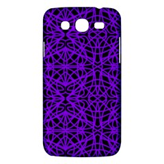 Black And Purple String Art Samsung Galaxy Mega 5 8 I9152 Hardshell Case  by Khoncepts