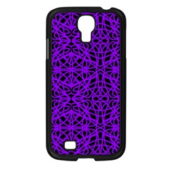 Black And Purple String Art Samsung Galaxy S4 I9500/ I9505 Case (black) by Khoncepts