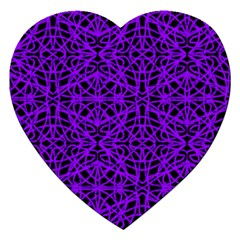 Black And Purple String Art Jigsaw Puzzle (heart) by Khoncepts