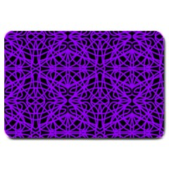 Black And Purple String Art Large Doormat