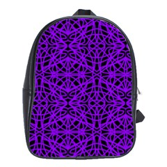 Black And Purple String Art School Bag (large)