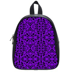 Black And Purple String Art School Bag (small) by Khoncepts