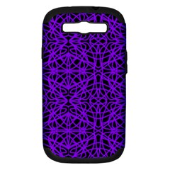 Black And Purple String Art Samsung Galaxy S Iii Hardshell Case (pc+silicone)