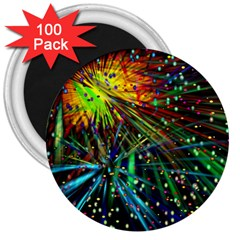 Exploding Fireworks 3  Button Magnet (100 Pack) by StuffOrSomething