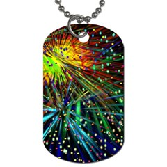 Exploding Fireworks Dog Tag (two Sided)  by StuffOrSomething