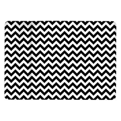 Black And White Zigzag Samsung Galaxy Tab 10 1  P7500 Flip Case by Zandiepants