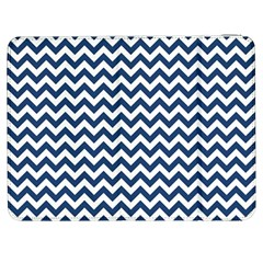 Dark Blue And White Zigzag Samsung Galaxy Tab 7  P1000 Flip Case by Zandiepants